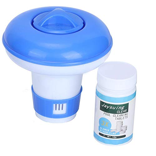 Dispensador de productos químicos, tableta de cloro flotante automático Dispensador de productos químicos Limpiador de piscinas Accesorios para piscinas Flotador de cloro para tabletas de cloro