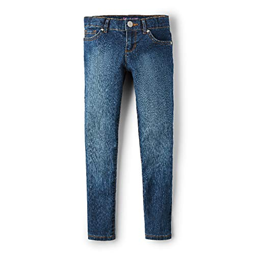 The Children's Place Girl's Super Skinny Jeans, Victory Blue Wash, 6
