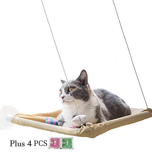 VANELIFE Katze Pet Hängematte, Starke Saugnäpfe Fenster Glas montiert Katze Sitzstange Entspannende bequem Sunny Sitz Bett, gelb