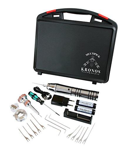 Elektrische Dietrichpistole Set komplett mit Hartschalen Kunststoffkoffer - Multipick® Kronos - Qualität Made in Germany
