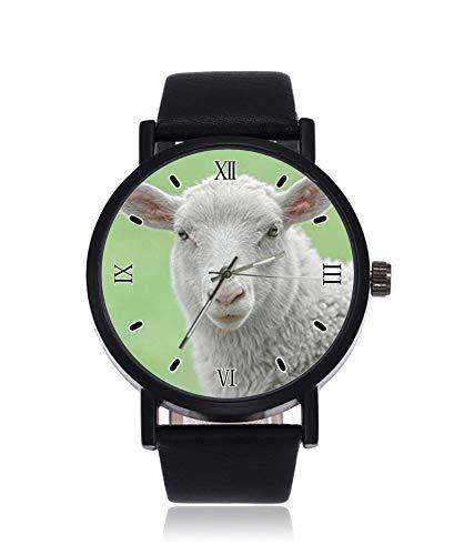 Reloj de pulsera para hombre con diseño de oveja y cordero para bebé, con diseño de animales, ultrafino, para negocios, casual, deportivo, de cuarzo, para mujeres y hombres, resistente al agua, unisex