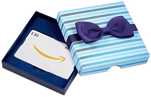 Amazon.co.uk Gift Card - In a Gift Box - £30 (Blue Bow Tie)