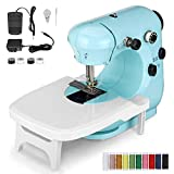 CHARMINER Upgraded Sewing Machine, Portable Multifunctional Electric Sewing Machines for Beginners, Adjustable 2-Speed 2-Thread Sewing Machine with Extension Table for Denim, Leather etc DIY (Green)