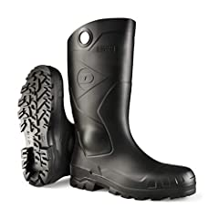 100% Waterproof Made in USA Lightweight modern design 25% lighter than classic PVC boots Energy absorbing BAY-LOC outsole with channels to repel water Dunlop Pull Tab for easy on off