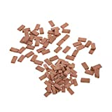 MOMAA 1/35 Miniature Brick -Scale Wall Bricks Mini Bricks Model DIY Dollhouse Bricks Diorama Fairy Garden Sand Table Micro Landscape Accessories(red+Grey) (red)