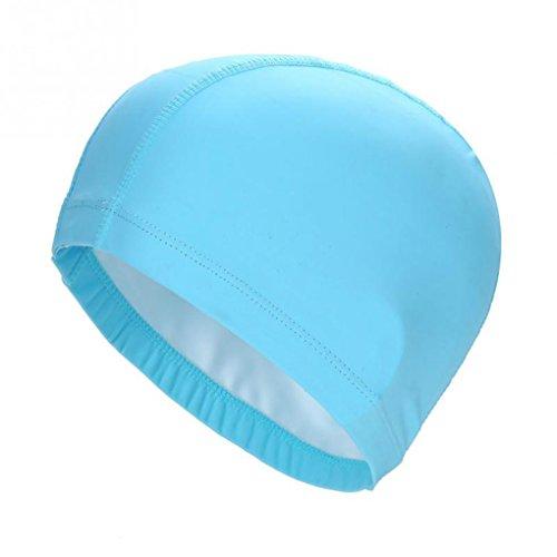 Morza Gorro de baño elásticos PU Impermeable Proteger Gorro de baño Orejas Sombrero de Pelo Largo Deportes de natación Piscina SPA Gorra de natación por un Hombres Mujeres
