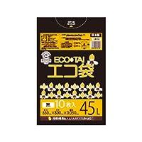 サンキョウプラテック エコ袋 45L 0.030厚 黒 10枚入×60冊 LN-42