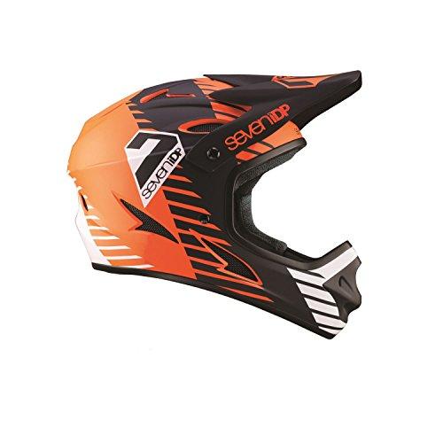 Seven M1Tactic Casco Integral para Bicicleta de montaña Infantil, M1 Tactic, Orange/Noir/Blanc,...