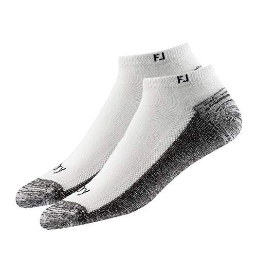 FootJoy Men's ProDry Low Cut Socks 2-Pack Socks White Size 7-12