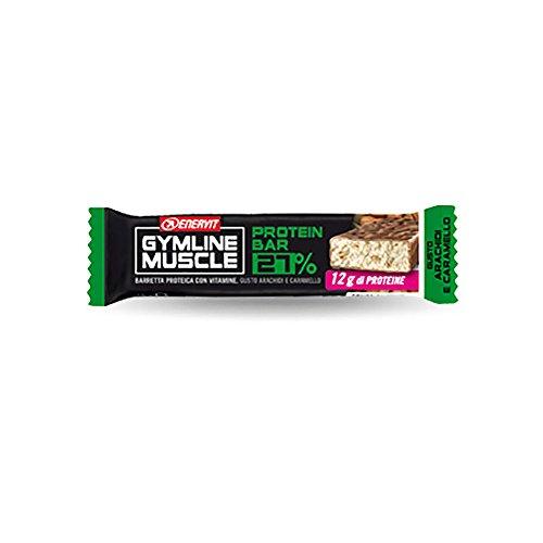 Enervit Gymline Muscle protein bar 27% Gusto Arachidi e Caramello confezione da 30 barrette