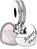 LaMenars Love Charm para pulseras Pandora 925 Silver colgante abalorios...