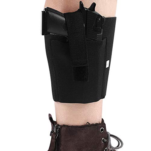 Concealed Carry Ankle Holster, Accmor Adjustable Elastic Leg Concealment Gun Holsters for Men and Women, Right & Left Hand Draw