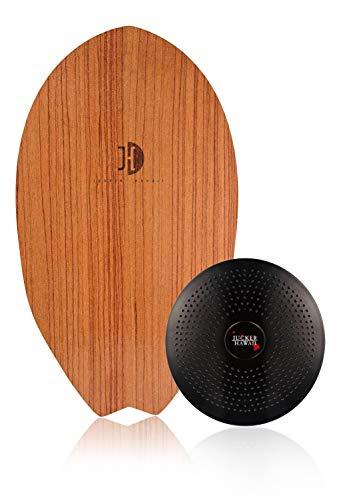 Jucker Hawaii Balance Board Homerider Surf Rosewood - Tabla de equilibrio de madera con cojín
