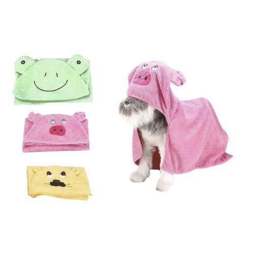 Croci C7374252 Bademantel Für Hunde Pink Pig, Größe 42x40 cm