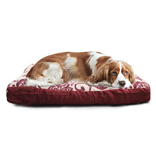 HSKB Deluxe Haustierbett Hundebett Katzenbett Hundesofa Höhlenbett Hundekorb für Katzen und kleine bis Mittelgroße Hunde Kuschelig mit weichem Kissen Rund oder oval (Grau)