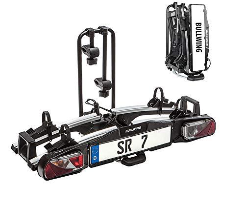 YRRA SR7 Fahrradträger für Anhängerkupplung für E-Bikes geeignet mit Schnellverschluss,zusammenklappbar und vormontiert