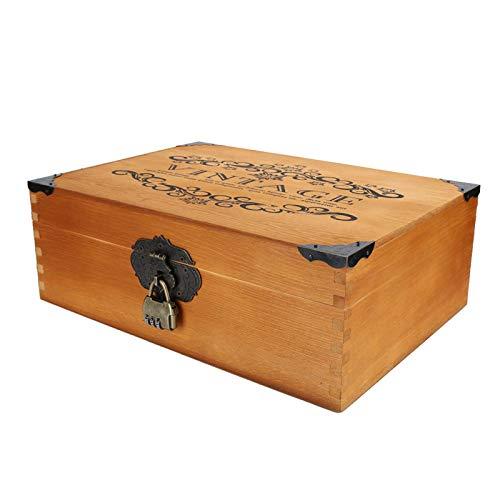 Estuche organizador de documentos duradero Caja de almacenamiento de madera multifuncional para estudiantes