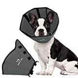 BABYLTRL Dog Cone Collar Soft, Dog Recovery Collar for Dogs and Cats, Protective Collar After Surgery for Small Medium Large Dogs to Prevent from Biting & Scratching (Medium, Sliver)