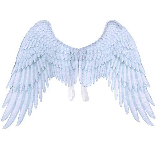 Alas de plumas de ángel negro de Halloween, accesorios de rendimiento para carnavales, disfraces de...