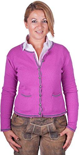 Almwerk - Chaqueta para traje tradicional tirolés (punto), color verde, azul, gris, negro y rosa