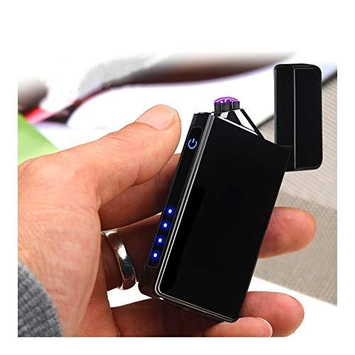 YUHUII aansteker met vingerafdruk, inductie, touchscreen, dubbele boog, USB-aansteker, plasma-aansteker, elektronische gadgets voor mannen