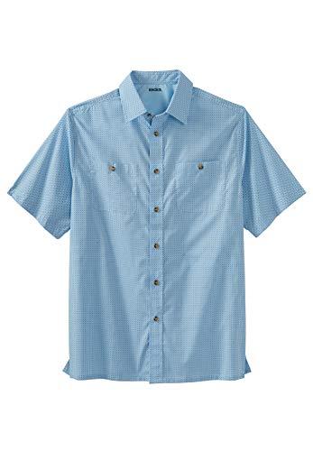 KingSize Men's Big & Tall Short-Sleeve Printed Sport Shirt - Big - 5XL, Geo