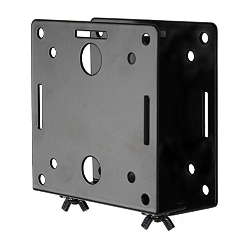 Videosecu Adjustable Small Device Wall-Mounted Bracket for Cable Box Digital TV Media Players some DVD DVR Smart Router Switch Blu-Ray Player Modems Game Consoles MTC02B 1QJ