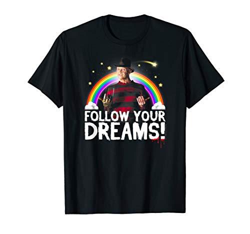 Nightmare on Elm Street Follow Your Dreams T-shirt, Men, Women, S to 3XL