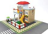 Modbrix Juego de construcción de ciudad, casa Villa, incluye placa base, 380 piezas, juguete de cons...