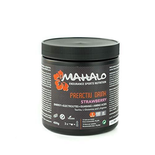 MAHALO PREACTIV DRINK 450 g. Bebida isotónica completa para tomar antes y durante la actividad física. Hidratación y Energía con Guaraná + Taurina + L-Glutamina + L-Arginina. (Limón)