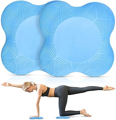 Yoga Bolster - Rodilleras de yoga, cojín para hacer tu yoga, minimiza y soporta rodillas, muñecas y codos, respetuoso con el medio ambiente, ligero, antideslizante y suave