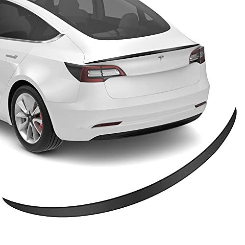 BASENOR Tesla Model 3 Heckspoiler ABS Kofferraum Flügel hoch Performance Spoiler matt schwarz