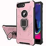 Yiakeng Funda iPhone 6 Plus/iPhone 7 Plus/iPhone 8 Plus, 360 Grados Proteccion Hard PC Silicona TPU Carcasa Antigolpes Case para iPhone 6 Plus/iPhone 7 Plus/iPhone 8 Plus (Oro Rosa)