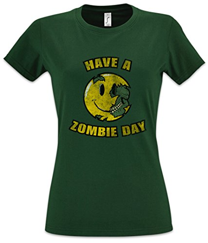 Urban Backwoods Have A Zombie Day Women Donna T-Shirt Verde Taglia M