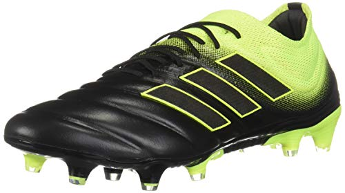 adidas Copa 19.1 FG Cleat - Men's Soccer, 9.5 M, Black/Shock Yellow