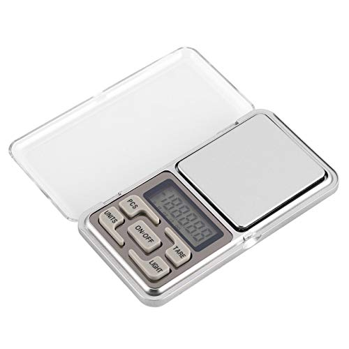 Ba30DEllylelly Mini balanza Digital de Bolsillo 200g 0.01g Precisión g/TL/oz/CT/gn Medición de Peso para joyería de Cocina Pesaje de Tara de Oro