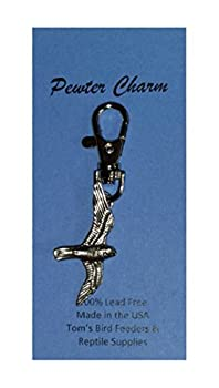 Tom s Bird Feeders Falcon Pewter Charm with Clip Lead Free Made in USA