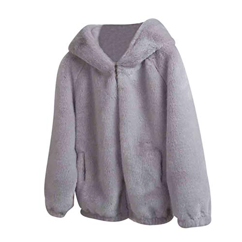 Shangyi Damesmantel Vrouwen winter warme dikke mantel vaste muts capuchon gebreide jas losse mantel