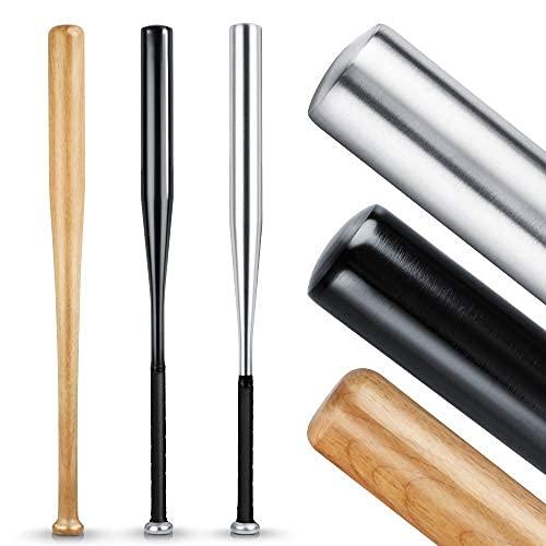 Heldenwerk Mazza da baseball autodifesa in legno o alluminio - Mazze da baseball 31 Pollice -...