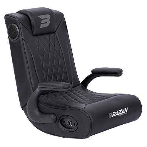 BraZen EmperorX 2.1 Bluetooth Surround Sound Fold Away Floor Gaming Rocker Chairs for Teenagers with...