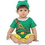 Ropa de bebé Super Hero Juegos Videojuegos Body Pijama Bebé Geek Disfraz Cosplay Geek Disfraz Original y divertido Disfraz 100% Algodón Talla:7-9 mois