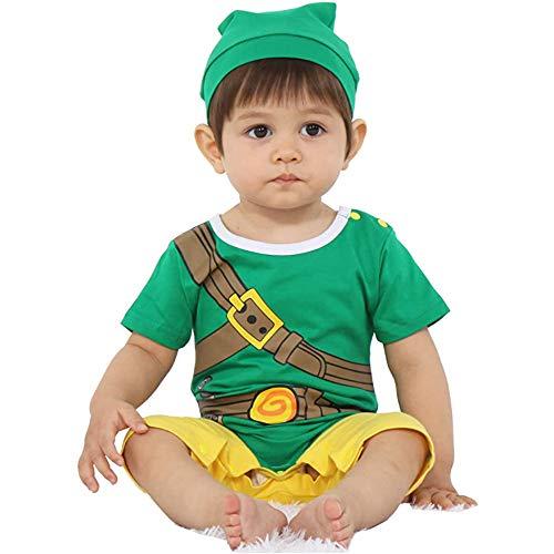 Ropa para beb Super Hro Zelda | Body Pijama infantil Link | Disfraz Zelda | Disfraz original y divertido | 100% algodn (19-24 meses)