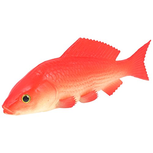 Sourcingmap Schaum Aquarium Künstliche Simulation Gold Fisch Ornament, Rot/Weiß de
