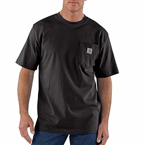 Carhartt Men's K87 Workwear Short Sleeve T-Shirt (Regular and Big & Tall Sizes), Black, Large