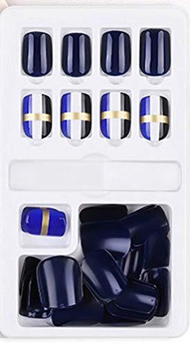 Nagel Art Tip Elegante Zwarte Glitter Kunstmatige Valse Nagels Perfect Volledige Cover Schoonheid Art Decoratie Manicure Mat met Metallic Franse Acryl Nep Nagel Valse Nep Volledige Nagel Tip(30 stks) 33#