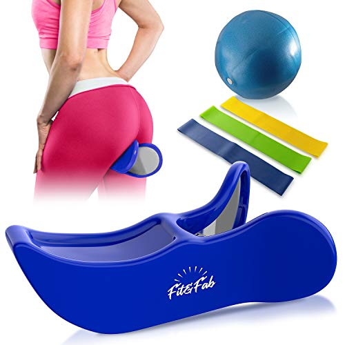 Fit&Fab Kegel Exerciser Hip Trainer for Women with Butt Lifting, Muscle Toning, and Pelvic Floor Strengthening, Provides Postpartum Therapy for Bladder Control, Inner Thigh Trainer Correction