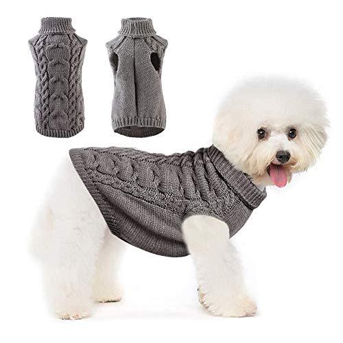 Hundepullover, Winter Warmer Hund Katzenpullover Haustier Katze Hund Pullover, warme Hund Pullover Cat Kleidung für kleine mittelgroße Hund Haustierpullover
