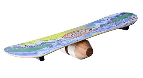 WODFitters VewDo Flow Balance Board with Patented Track and Rock Design  Provides Exceptional Toe/Heel and Rotational Balance for Snowboarding Wake