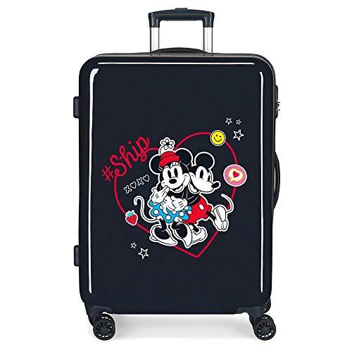 Disney Always Be Kind Maleta Mediana Azul 48x68x26 cms Rígida ABS Cierre de combinación Lateral 70L 2,66 kgs 4 Ruedas Dobles