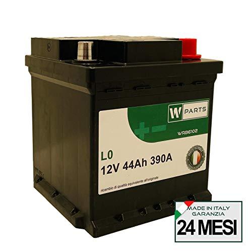W-Parts Batteria Auto 44 Ah - 390A Spunto |Garanzia Italia| 175x175x190 | 44Ah | Cubetto